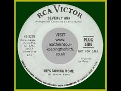 Beverly Ann - Hes Coming Home #NorthernSoul #SoulMusic