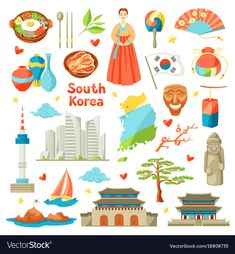 Korean Culture Vector Images (over Korea Logo, Icons Web, South Korea Culture, Merry Christmas Background, Korean Painting, Ecole Art, Learn Korean, Thinking Day, Korean Art