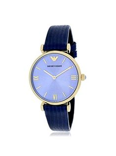 Emporio Armani Women's AR1875 Classic Blue Leather Watch