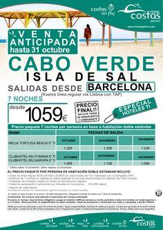 """Cabo Verde desde Barcelona.""""Oferta Venta Anticipada"""". Del 01 Octubre al 14 de Diciembre. ultimo minuto - http://zocotours.com/cabo-verde-desde-barcelona-oferta-venta-anticipada-del-01-octubre-al-14-de-diciembre-ultimo-minuto-3/"""
