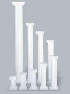 Classical Grecian Column - White
