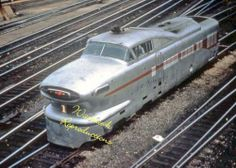 Rock Island Rr Aerotrain #1 Power Unit 5x7 Color Photo