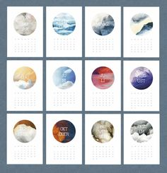 Kalender 2016 zum Ausdrucken – PDF
