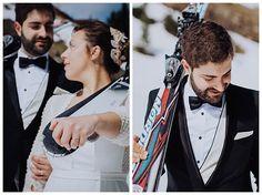 Trash the dress Ski Wedding