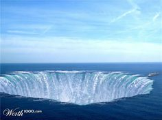 Fake - Blue Hole by korniax on Worth1000 in the Bermuda Triangle  Solved Contest... - This image has recently been linked to stories about underwater pyramids but was created for this contest in 2007........(See the ocean liner on the right? Don't you think we would have heard about it?)