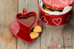 heart-shaped mug and cookies  www.teelieturner.com #ValentinesDay