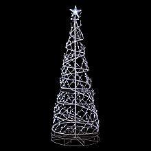 Buy John Lewis Outdoor Spiral Tree Light, White Online at johnlewis.com