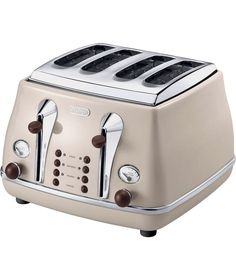 Buy De'Longhi 4 Slice Vintage Icona Toaster - Cream at Argos.co.uk - Your Online Shop for Toasters.