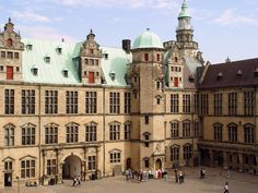 Kronborg Castle (or Elsinore in Shakespeare's Hamlet) near the city of Helsingør in Denmark      ( via Luis Manuel Guaida )    Kronborg Castle is a main tourist attraction. Hamlet has been performed a number of times in its courtyard.