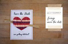 DIY: Fringe Save the Date