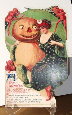 -SOLD- Halloween decoration from postcard in my eBay store auction Valentines etc.