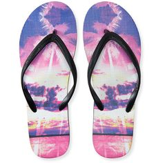 Aeropostale Hawaiian Sunset Flip-Flop (6.55 CAD) ❤ liked on Polyvore featuring shoes, sandals, flip flops, black, palm beach sandals, black sandals, aeropostale sandals, kohl shoes and aeropostale shoes