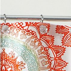 AnthologyTM Bungalow X Shower Curtain In Coral