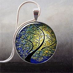 Willow, Wind and Sun art pendant charm