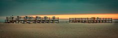 Nothing but silence - Sundown on the beach of St. Peter Ording / North sea / Germany  Sonnenuntergang am Strand von St. Peter Ording /…