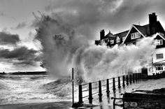 1X - Big Wave - Storm at Sandsend by Keith Foster