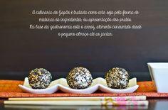 Marmita: Bolinhas de sushi com farinheira e tomate