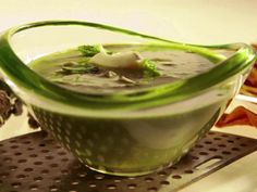 Get Almost Raw Asparagus Soup with Yogurt and Almonds Recipe from Food Network