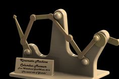 Bar mechanism / Kinematic machine - Columbus museum. - SOLIDWORKS,STEP / IGES - 3D CAD model - GrabCAD