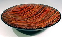 Marty Kremer's was one of the first kilnformed glass pieces I ever collected (actually it was a rainbow bowl, not this one--this is just one of my favorites). Movers broke the bowl and Marty's moved on to bigger and better stuff...but I still love his work.
