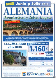 ALEMANIA - Romántica y Selva Negra - salidas 29/06 y 6/07 desde Madrid (8d/7n) p. final dsd 1.310€ ultimo minuto - http://zocotours.com/alemania-romantica-y-selva-negra-salidas-2906-y-607-desde-madrid-8d7n-p-final-dsd-1-310e-ultimo-minuto-4/