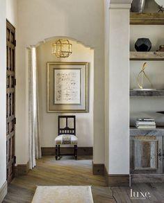 Mediterranean Cream Arched Hallway