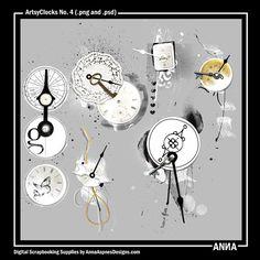 Oscraps :: ArtsyClocks No. 4  Anna Aspnes Designs :: iNSD2015 ValuePack