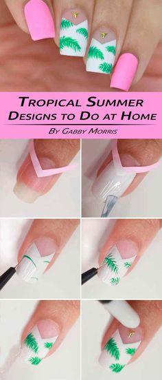 tutorial diseño de uñas para el verano