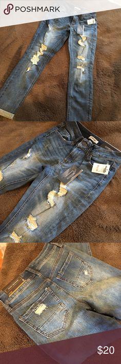 Charlotte Russe Refuge Boyfriend Jeans Size 0 Skinny Boyfriend Jeans - Size 0 refuge Jeans Boyfriend