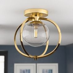 Kroll Semi Flush Mount - Semi Flush Ceiling Lights - Ideas of Semi Flush Ceiling Lights Entryway Lighting, Living Room Lighting, Bedroom Lighting, Cool Lighting, Luxury Lighting, Entryway Decor, Foyer, Semi Flush Ceiling Lights, Flush Mount Lighting