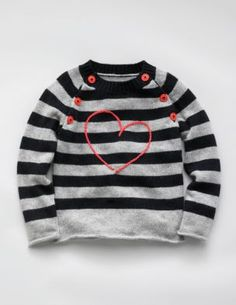 heart sweater • mini boden    embroider a striped h sweater. awww yeah.