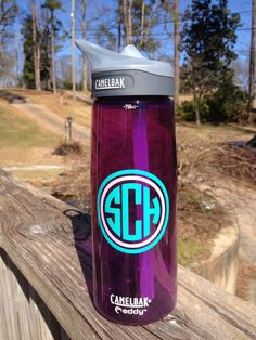 Monogrammed Waterbottle by SweetSassyAndClassy on Etsy, $28.00