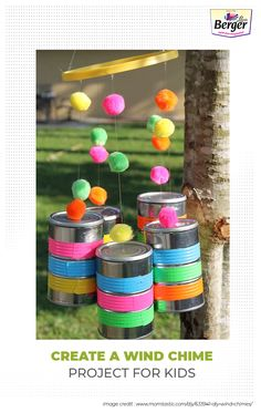 Create a simple DIY project for your kids at home with the use of old tin cans. Paint them with bright colourful paints.