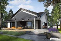 Modern Bungalow House Design, Modern Barn House, Pole Barn House Plans, Tiny House Plans, Affordable House Plans, House Construction Plan, Beautiful House Plans, Weekend House, Facade House