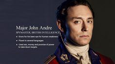 TURN character cheat sheets. (From AMC's Story Sync.) JJ Feild as John Andre