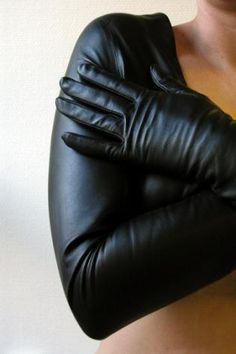This Gloves Bolero is so sleek, so stylish, so unique and wonderfully made of the softest kidskin leather.  Be creative with this unique piece; only cover the shoulders and arms and put the front away?  Or maybe close it at the front in a way you like and feel.  Play with this design and discover how you prefer to wear it and find your own way.