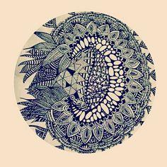 Zentangle art by Parul.