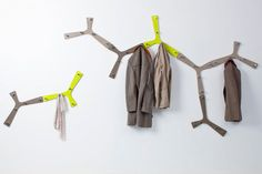 Branch wall hooks  Branch is the wall hook from the new Nature series. Branch has five pegs and can be used both individually and in combination, in which case the units form a branch when fitted side by side. A light-hearted, decorative object for any wall.