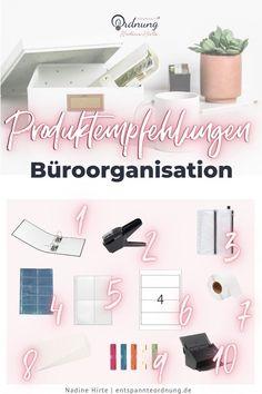Diese Produkte brauchst du, um deinen Papierkram zu organisieren. Papierkram organisieren braucht nicht viel. Erfahre hier welches meine Lieblingsprodukte sind Diy Organisation, Organizing, Home Office, Office Jobs, Floating Nightstand, School Supplies, Scanner, Home Decor, Paper