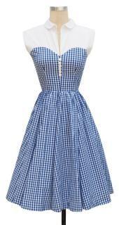 Trashy Diva Hopscotch Dress cg-d08-12-bluegingham - totally reminds me of Belle!