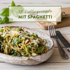 Spaghetti mit Spinat und Ricotta
