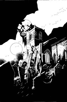 Hellboy Companion ~ Page 11, Hellboy The First 20 Years ~ Page 67 Comic Art