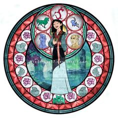Snow White Stained Glass | Mulan - Kingdom Hearts Stain Glass by reginaac57.deviantart.com on @ ...