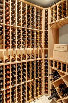 Wine cellar in Mercer Island home in Washington State. Dang I miss drinking a glass of wine. Susan Kay Hoover Scelzi