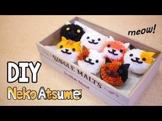EASY Fluffy Neko Atsume Pom Pom Tutorial - Fun & Cheap DIY (Free Pom Pom Maker Template) - YouTube