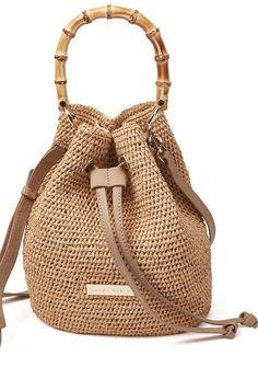 91e19018ba HEIDI KLEIN Savannah Bay Bamboo Duffle Mini Bag