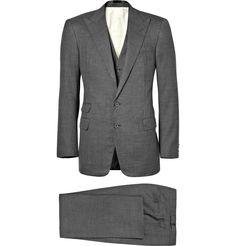 Ralph Lauren Purple Label three piece pindot suit