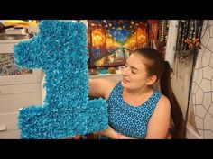 DIY ❤ Цифра из крепированной бумаги и картона ❤ Своими руками - YouTube