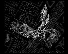 Architectural Drawing 人人小组 - Xuberance by Steven Ma with Hernan Diaz Alonso Landscape Architecture Portfolio, Parametric Architecture, Parametric Design, Organic Architecture, Concept Architecture, Futuristic Architecture, Architecture Mapping, Paper Architecture, Concept Diagram