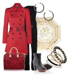 Días de Lluvia by outfits-de-moda2 on Polyvore featuring moda, Burberry, Mus, SOREL, Louis Vuitton, Miss Selfridge, Forever 21 and Jean-Paul Gaultier